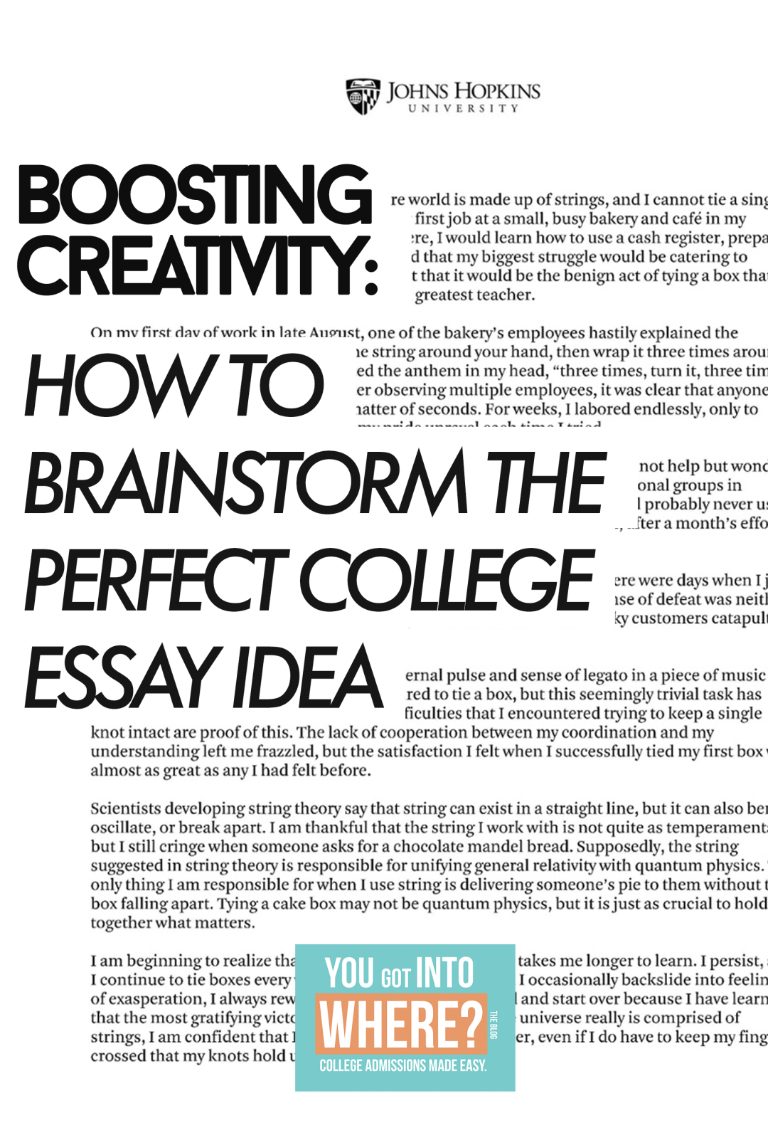 essays supplements you got into where 5 effective steps to brainstorm the perfect college essay